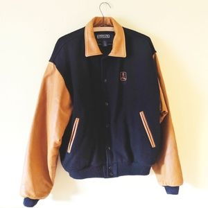 Vintage Lands End Wool Letterman Jacket USA Made
